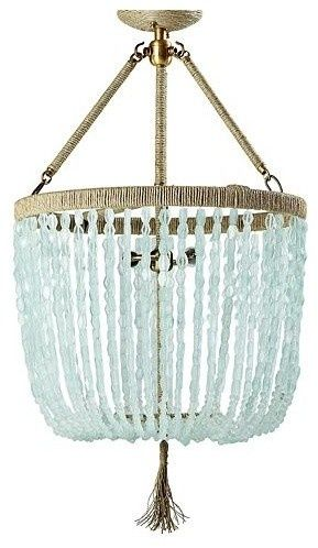 Chandeliers, Sea glass and Glass chandelier on Pinterest
