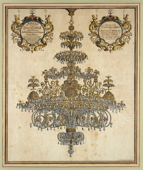 J.G.Puschner - Rock Crystal Chandelier-1720. chandeliers + old illustrations = awesome