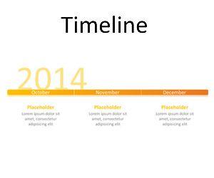 Simple Timeline PowerPoint Slide