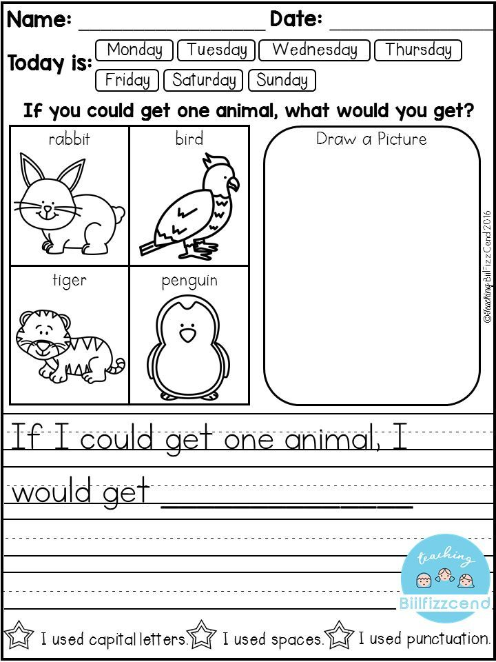 printable writing prompts for kindergarten Kindergarten students enter the school year with varying levels of ability, especially when it comes to writing as a kindergarten teacher, i've seen a range of writing, from scribbling to writing sentences.