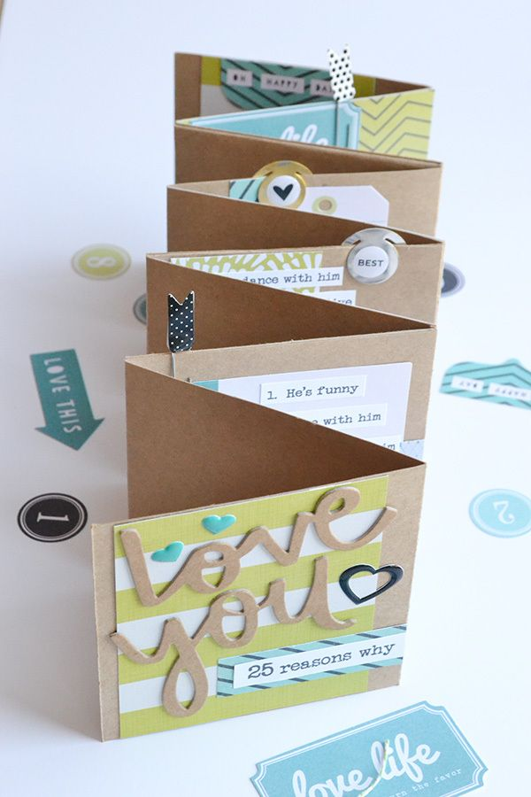 We R Memory Keepers Blog | Mini albums, Diy father's day cards, Photo album diy