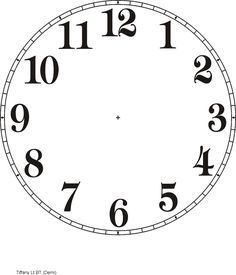 Printable Clock Templates | Here are a few examples: More