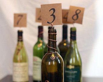 Bouteille de vin Topper Table de fil numéro marqueurs/détenteurs rustiques vignoble mariage