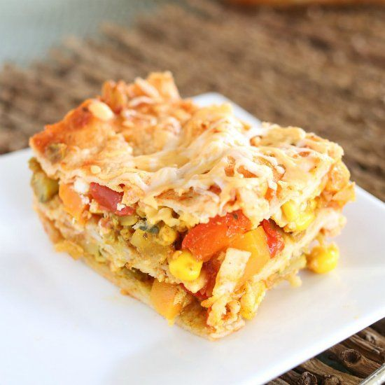 "... as the ""noodles,"" you'll have a Mexican style lasagna for d..."
