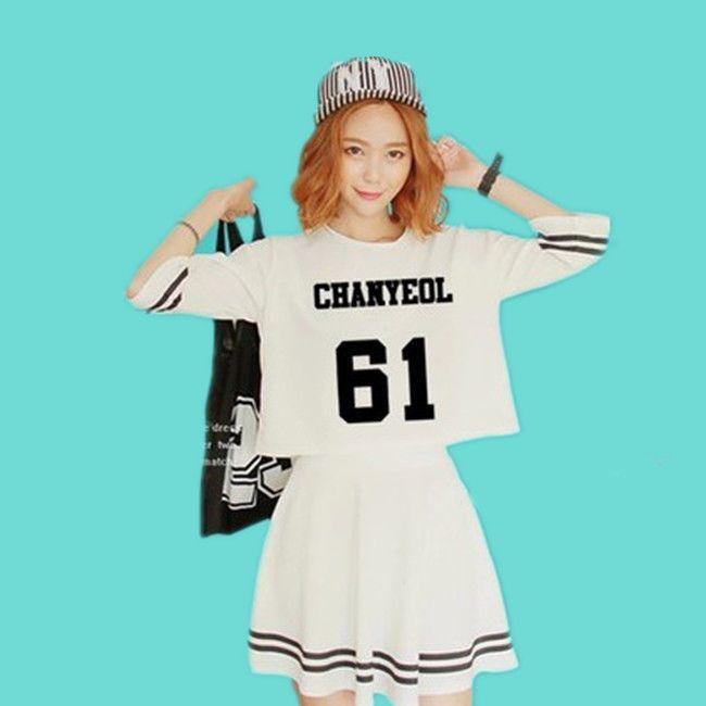 K-POP EXO Korea Style Skirt Kai Kris Luhan Dress EXO-K EXO-M 2015 New Design   #Allkpoper #ShirtDress