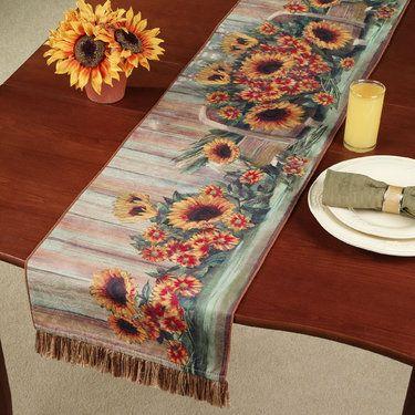 Harvest Moon Sunflower Table Runner