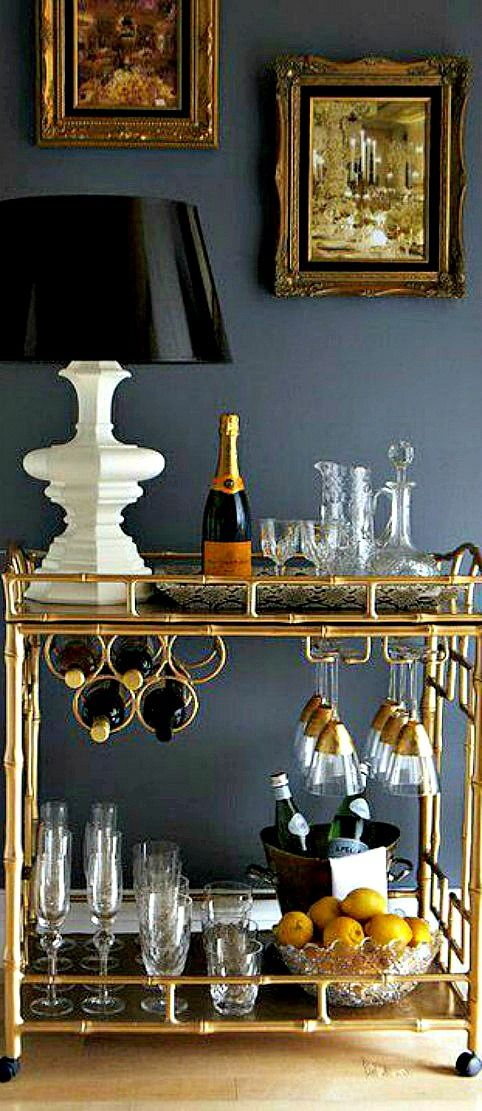Day 13: Swoon Worthy  Bar Cart-Can change decor for seasonal or for celebrations