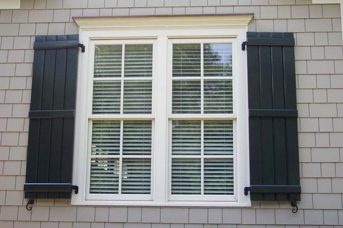 79 best home exterior ideas images on pinterest before - Exterior wooden shutters for windows ...