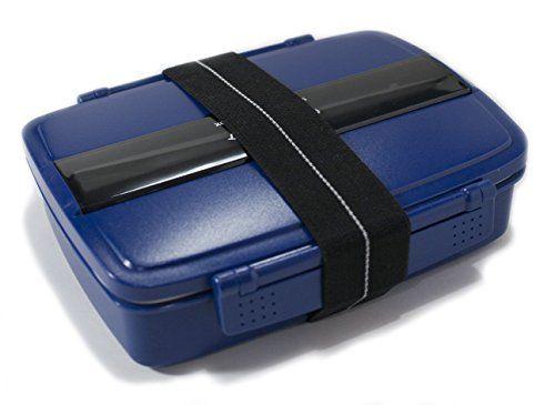 Comfort Loft Japanese Modern/Traditional Compartmental Bento Box 870 ml Chopsticks Blue