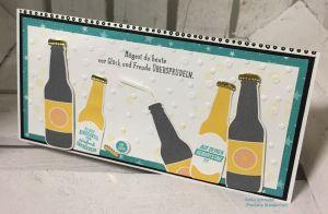 Geburtstagskarte mit Produktpaket 'Auf dich'