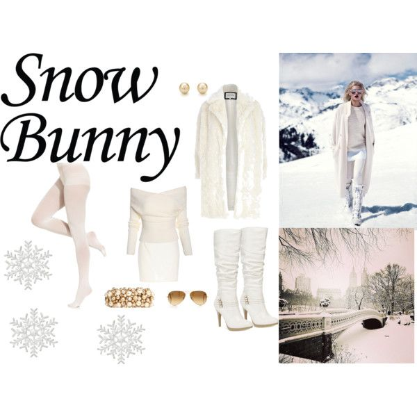 snow bunny by malirybka1989 on Polyvore featuring River Island, DKNY, Style & Co., Valentino, Tiffany & Co., Ray-Ban and DV