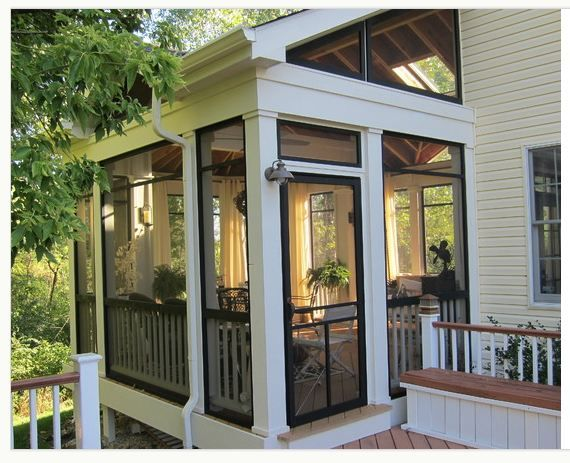 Screened in porch sunroom exterior design ideas for Porch sunroom