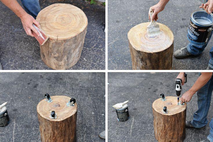 original tree stump DIY