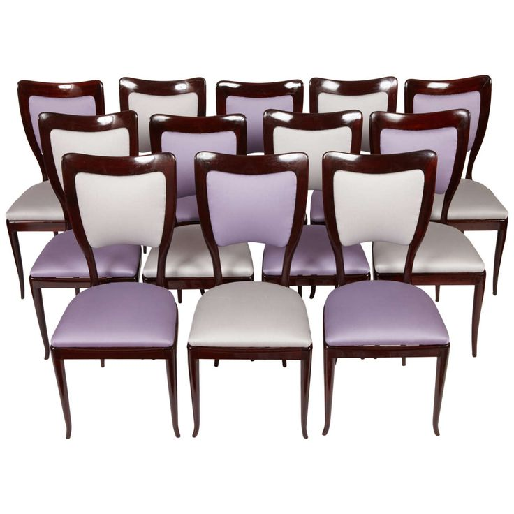 Important Set Of 12 Dining Chairs By Paolo Buffa