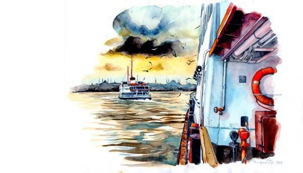 Istanbul Sketchbook by Ergun Gunduz by Ergun Gunduz, via Behance