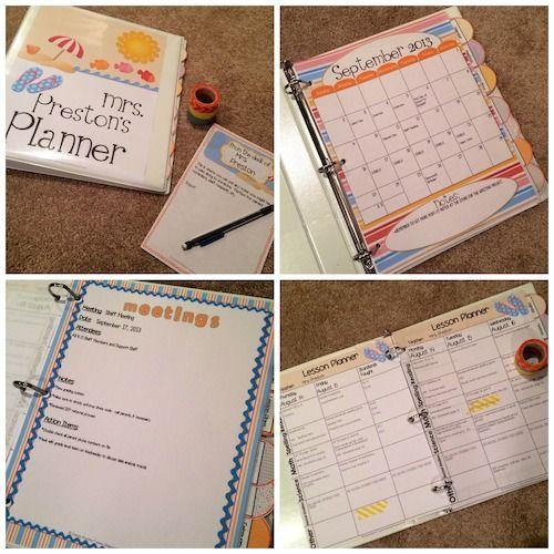 Beach Theme Teacher Lesson Planner
