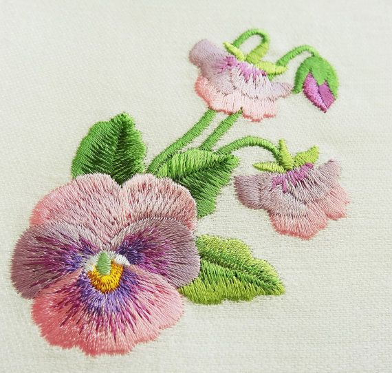 Machine embroidery design pansies by royalpresentemb on