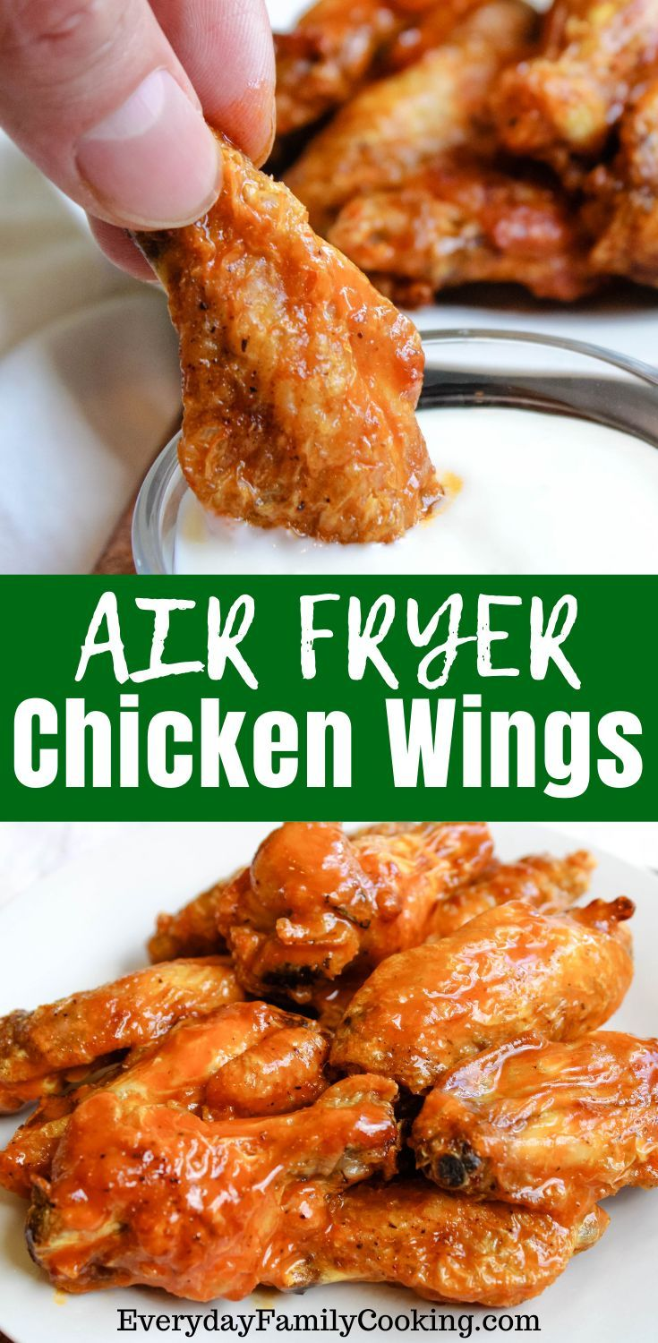 Air Fryer Chicken Wings With Buffalo Sauce Recipe In 2020 Air Fryer Recipes Healthy Chicken Wings Spicy Air Fryer Recipes Chicken