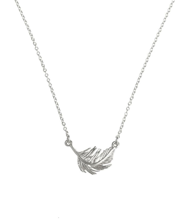 Alex Monroe Silver Little Feather Necklace | Jewellery by Alex Monroe | Liberty.co.uk