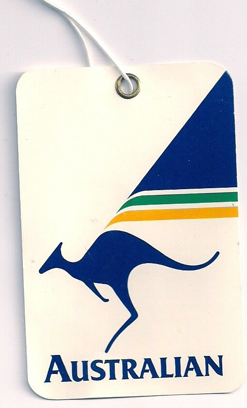 Australian Airlines bag tag