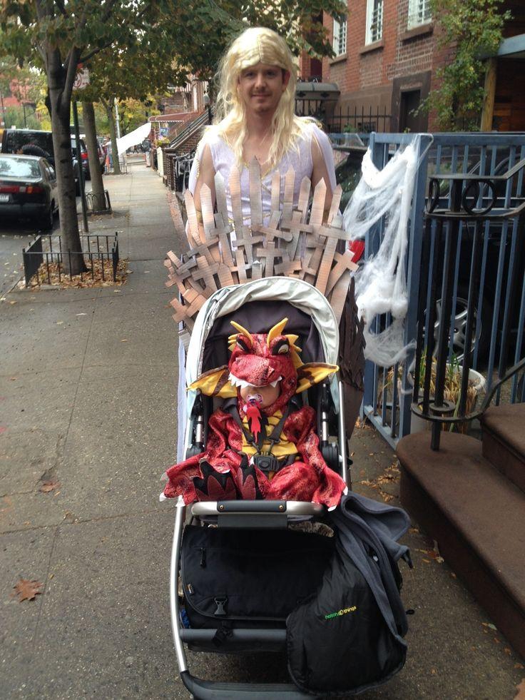 dad as khaleesi  mother of dragons  stroller as throne