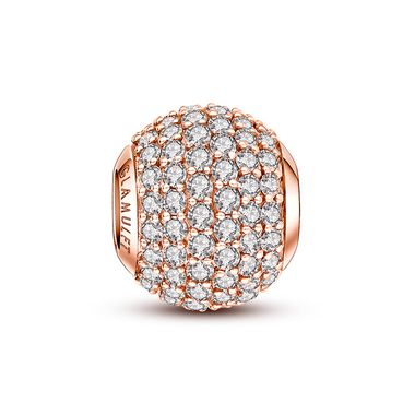 "Rose Gold Plated Crystal Paved Charm❤ Compatible Pandora Charms. Fits all brands bracelet.Wonderful gifts for family,lover,friends...Get 5% off on www.glamulet.com with coupon code ""PIN5"" #Glamulet"
