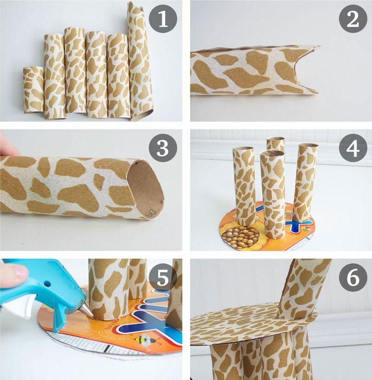 como fazer enfeite mesa aniversario infantil tema zoologico safari girafinha cupcake (4)