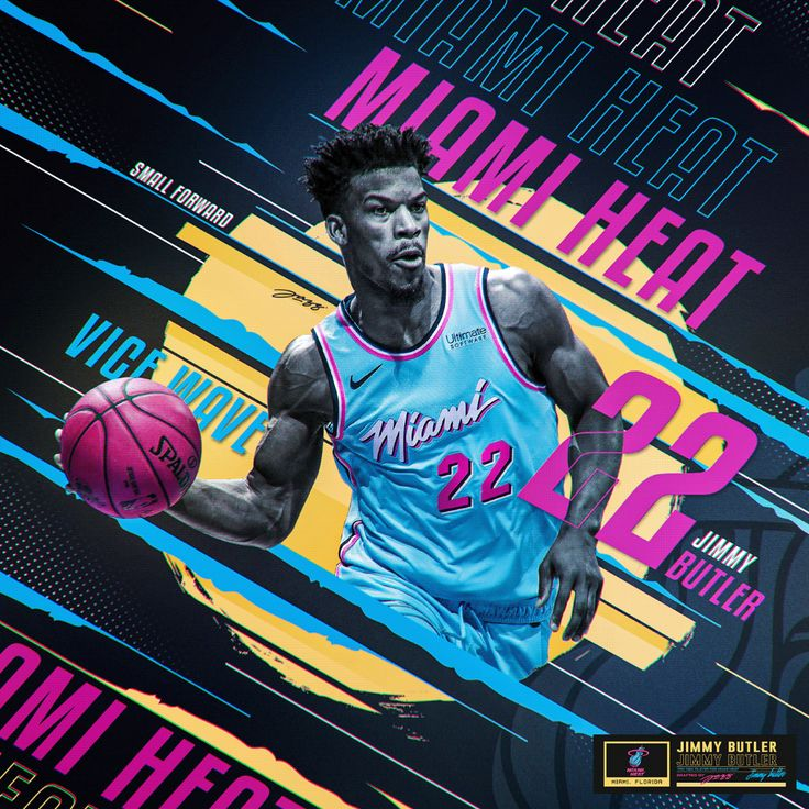 Jimmy Butler 22 Miami HEAT Vice Wave on Behance in
