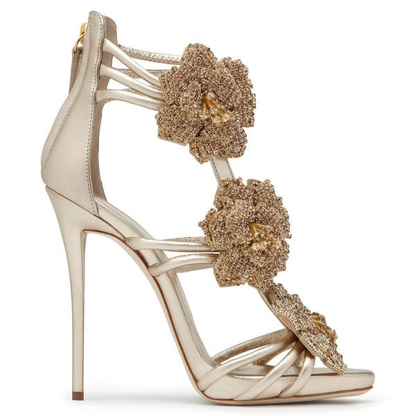 Giuseppe Zanotti - Rose Bridal #gold #golden #sandals #bride #wedding #chic #bysavio Sale Price $1195.00