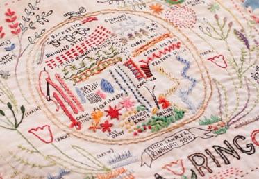 Embroidery Sampler Mini Workshop on Creativebug
