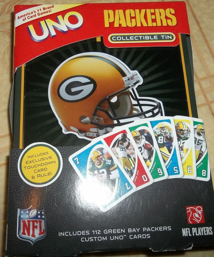 Green Bay Packers UNO Card Game NEW Sealed NFL