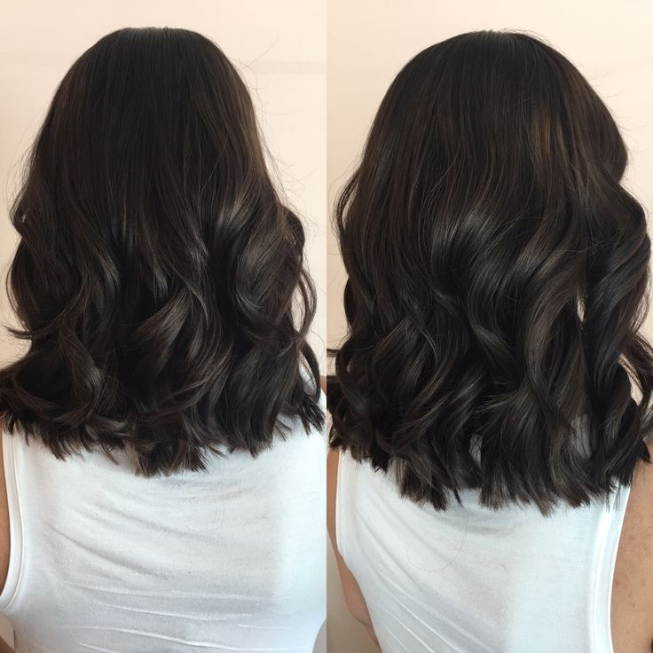 deep dark chocolate brown lob medium
