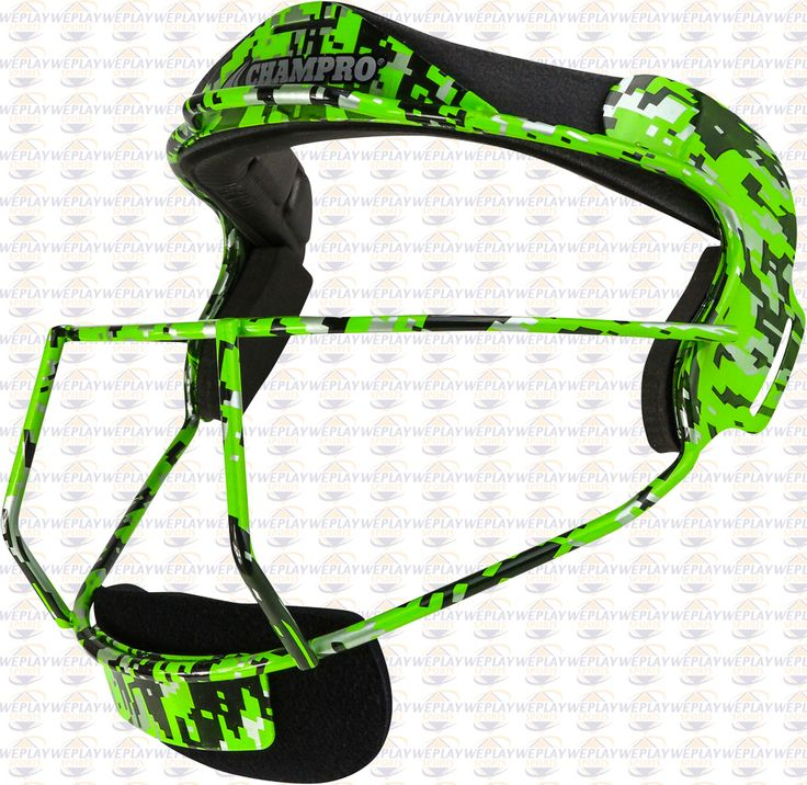 """Champro Sports® """"The Grill"""" Fastpitch Softball Fielders Face Mask (Camo)"""