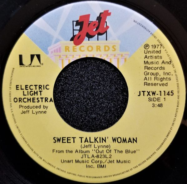 Electric Light Orchestra Sweet Talkin Woman Fire On High 7 Single Oldies Music Orchestra Music Memories