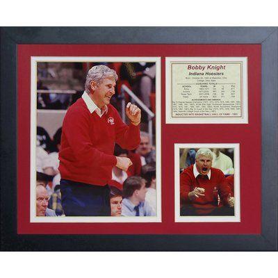 Legends Never Die Bob Knight Indiana Hoosiers Framed Memorabilia