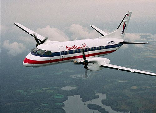 American Eagle Saab 340B    -I remember when American still flew these. They're so cute!
