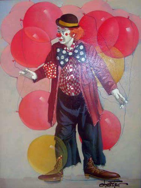 new Clown Oil Paintings | Chuck Oberstein Paintings ...