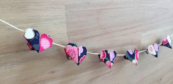 Mini Heart Origami Bunting baby bunting baby by OzigamiDesigns