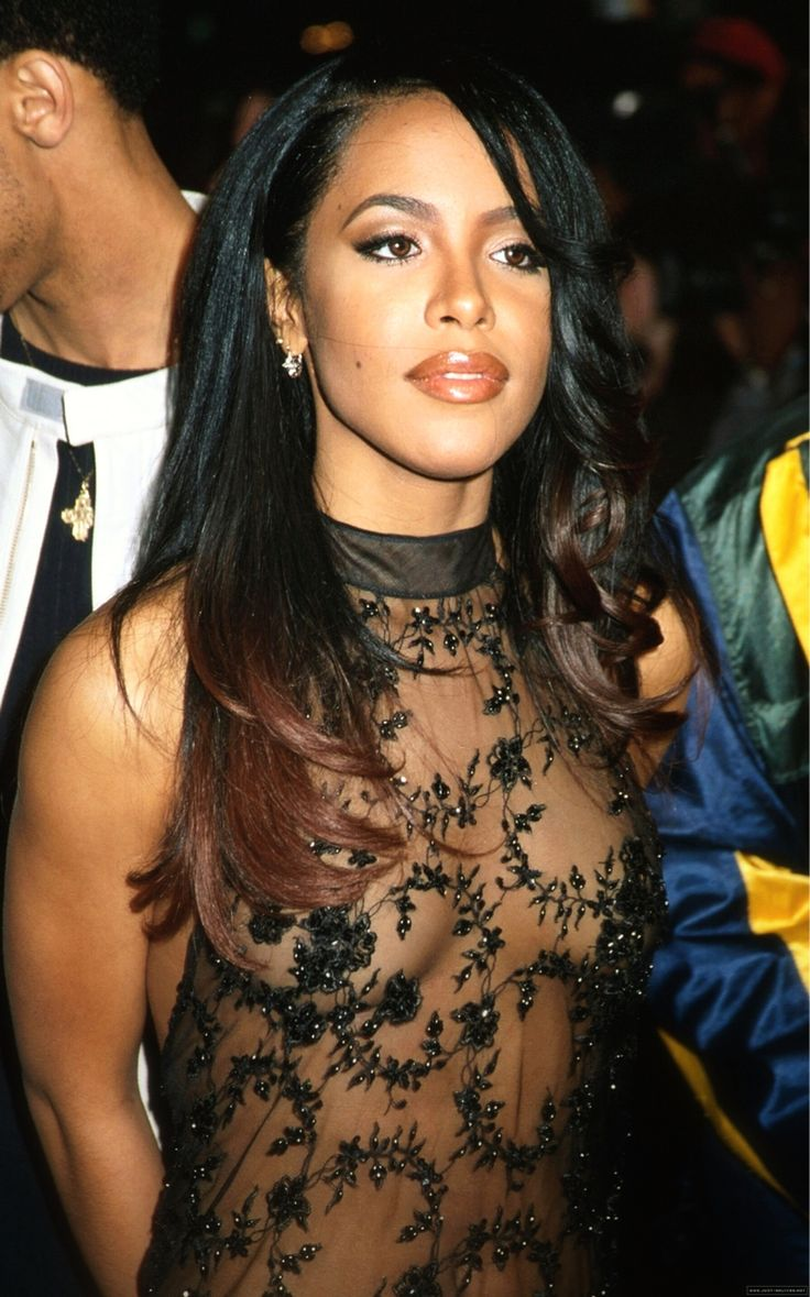 "Aaliyah She was a triple threat...wearing the ombré before it was a ""trend""."