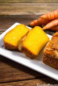 Bizcocho de Zanahoria - Receta facil - Sin gluten