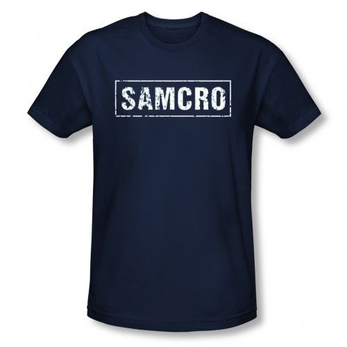 Sons of Anarchy SAMCRO T-Shirt [Navy Blue]