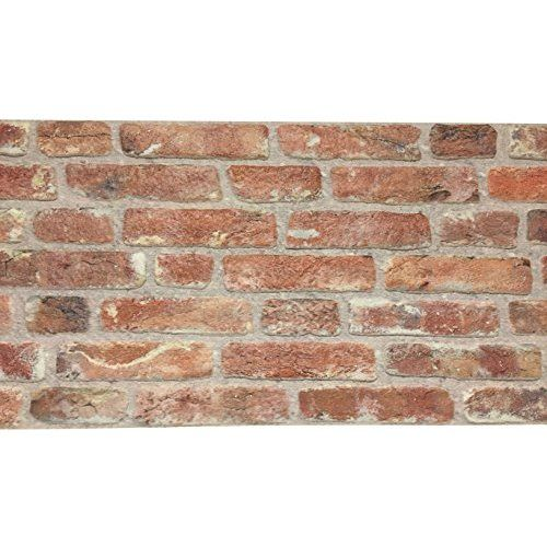 Wandverkleidung in Steinoptik aus Styropor für Küche • Terrasse • Schlafzimmer • Wohnzimmer | Wandpaneele für mediterrane Wandgestaltung | 120cm x 50cm x 2cm Hellrot