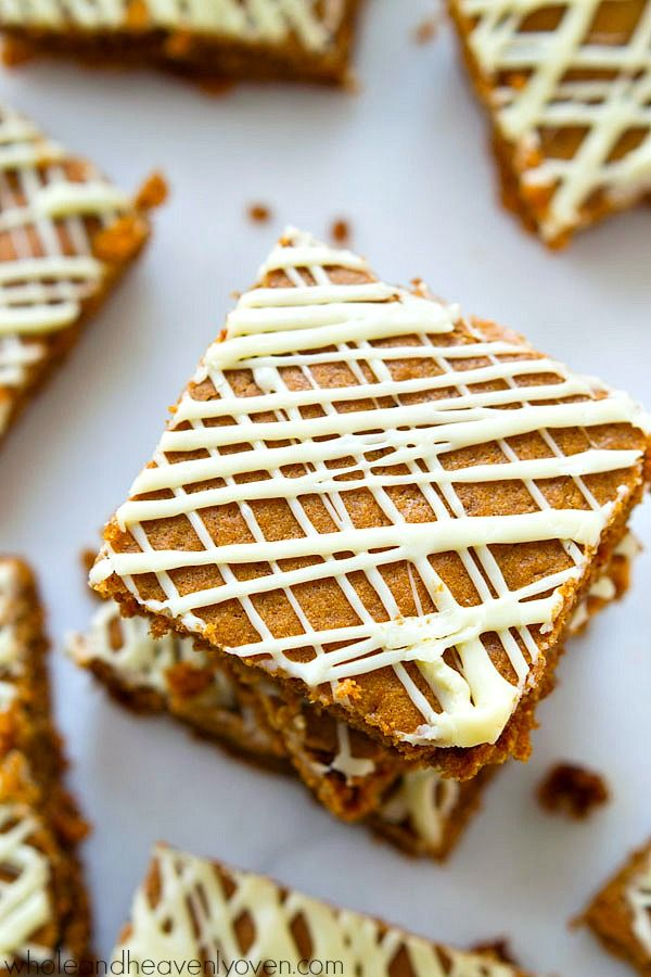 Soft-Baked Gingerbread Cookie Bars - Whole and Heavenly Oven