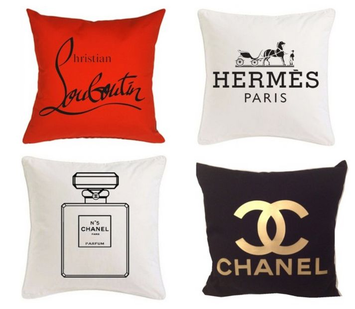 Chanel, Louboutin, Hermes Inspired Pillows—To die for! | The Office Stylist