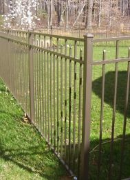 http://www.hornerbros.com/fence - Pictured here aluminum fence from Horner Brothers LLC located in Hamilton NJ - not sure if this type of fence is right for your property? We can help! Brown Aluminum. #fence #contractor #hamilton #nj