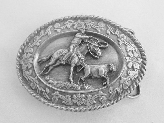 Siskiyou Calf Roping Pewter Belt Buckle Mens Belt Buckle Rodeo Belt Buckle Western Wear Collectible Belt Buckle Vintage Belt Buckle F5000 by TheVintagePick on Etsy