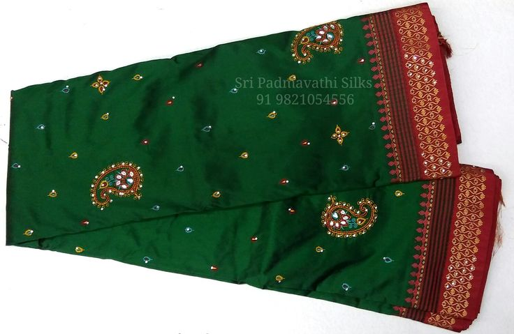 Aishwarya Collection - Kancheepuram handloom pure silk sarees with a touch of glam - delicate embroidery and stone work for that elegant evening bling. Book now 91 9821054556 Sri Padmavathi Silks, the only South Indian store in Dombivli, India. Kancheepuram handloom pure silk sarees in Mumbai. All credit and debit cards accepted. International shipping available. Wholesale orders accepted.