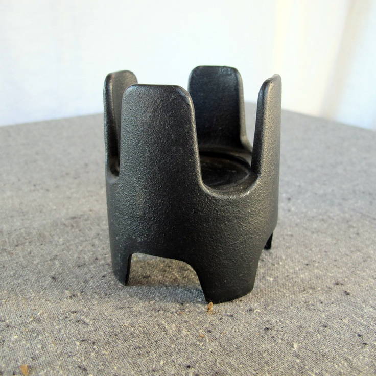 Large Dansk Cast Iron Candle Holder Jens Quistgaard by nickhaus