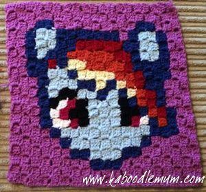 rainbow dash corner to corner c2c crochet graphgan pattern