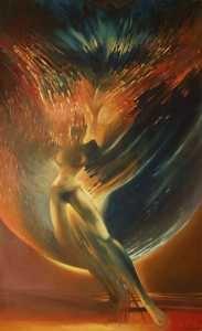 98 cm x 61 cm obraz olejny / oil painting by Leszek Gesiorski